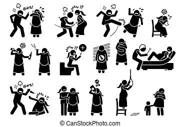 gedurende, violence, intieme, pregnancy.