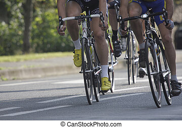gedurende, wielen, hardloop, cycling