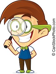 geek , γυαλί , nerd , κράτημα , αυξάνω