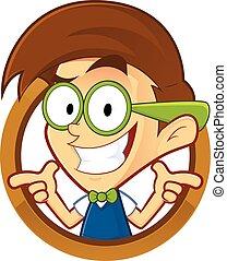 geek , σχήμα , nerd , στρογγυλός