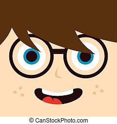 geek , χαρακτήρας , γελοιογραφία