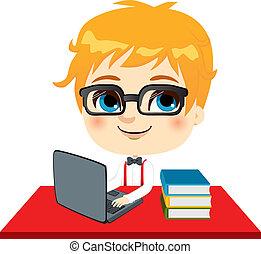 geek, 学生, 子供