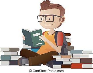 geek, 本, 読書, nerd