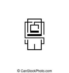 Geek, admin vector sign - Branding Identity Corporate logo...