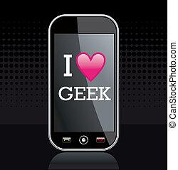 geek, amore, illustrazione