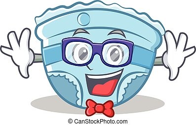 Geek baby diaper character cartoon