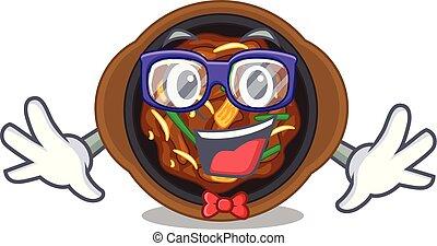 Geek bulgogi in a the bowl cartoon