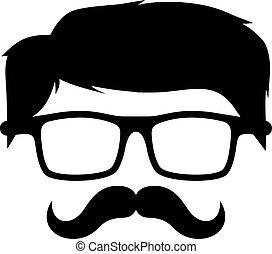 geek cartoon guy character vector art illustration