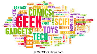 Geek Culture and Interests or Hobbies Concept