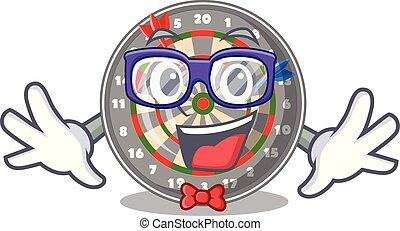Geek dartboard in the shape of mascot
