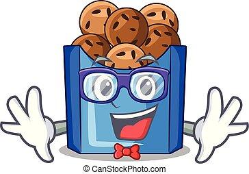 Geek falafel in fried on teflon cartoon vector illustration