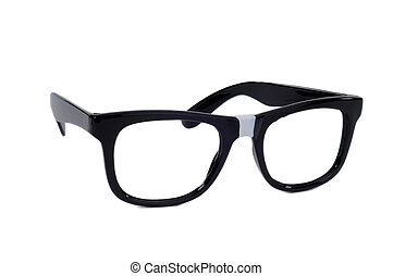 Geek Glasses - Pair Of Black Sixties Style Glasses With Tape...