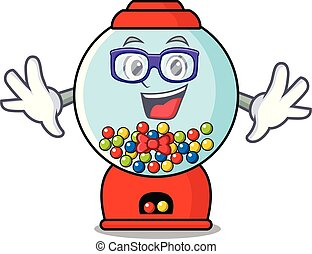 geek, gumball machine, karakter, spotprent