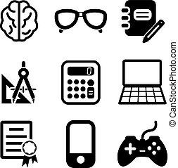 Geek Icons - This image is a illustration and can be scaled...