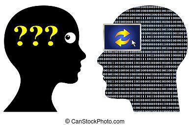 geek, kommunikation, probleme