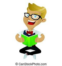 geek, livro, leitura, nerd