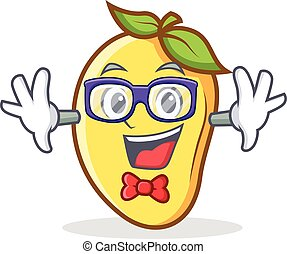 Geek mango character cartoon mascot vector illustration