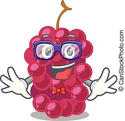 Geek mulberry in the character fruit basket vector...