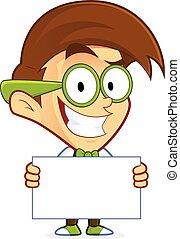 geek , nerd , κράτημα , σήμα