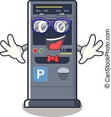 Geek parking vending machine the cartoon shape