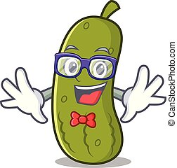 Geek pickle character cartoon style