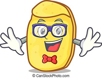Geek potato chips character cartoon