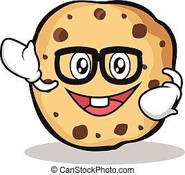 Geek sweet cookies character cartoon