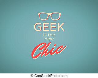 geek, szykowny, nowy