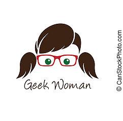 geek, woman.