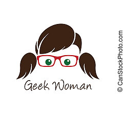Geek woman. Used font: Angelina