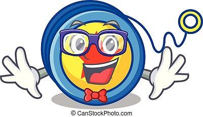 Geek yoyo character cartoon style vector illustration