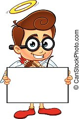 Geeky Cupid Character - A cartoon illustration of a Geeky ...