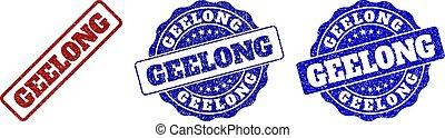 GEELONG Grunge Stamp Seals
