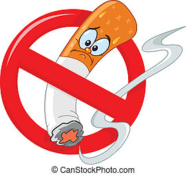 geen het roken, spotprent