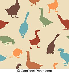 Geese pattern - Seamless patern design with geese...