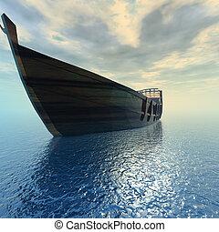 gefäß, segeln, meer