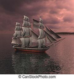gefäß, segeln