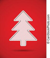 gefällter baum, weihnachten, heraus