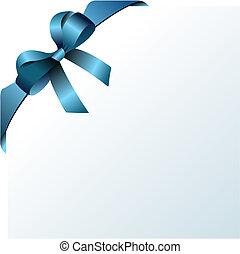 gefärbt, bow., vektor, abbildung, entwerfer, weihnachten