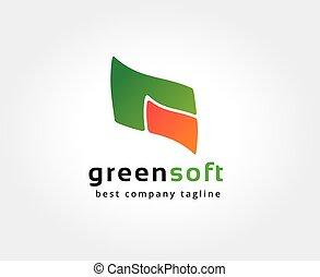 gefärbt, brandmarken, concept., logotype, vektor, design, schablone, logo, abstrakt, ikone