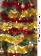 gefärbt, Fokus, Dekoration, hintergrund, Weihnachten, heraus