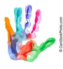 Fingerabdruck Farbe