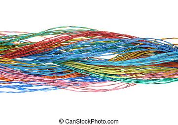 gefärbt, kabel