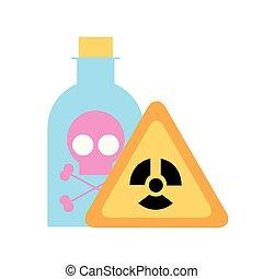 gefahr, gift, brett, flasche, laboratorium, chemie
