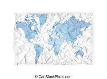 gefaltet, landkarte