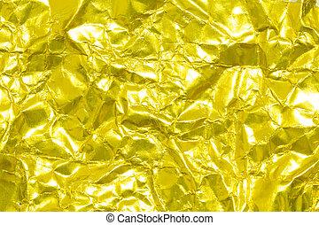 gefaltet, Papier,  gold