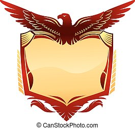 geflügelt, adler, emblem
