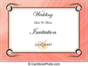Gef?rbt, Vektor, Wedding, Rahmen, Einladung, Card - card.,...