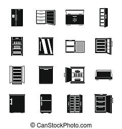 heiligenbilder k hlschrank eis maschine vektor d nne linie gefrierschrank elektrisch. Black Bedroom Furniture Sets. Home Design Ideas