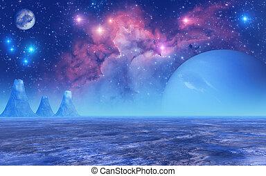 gefrorenes, planet
